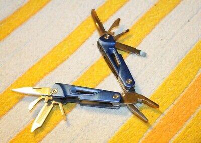 kleines Multitool mit Zange und Messer Feile ect. Werkzeugset BLAU Arbeit mini Klein Multi-zange