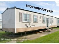 BOOK NOW FOR £25: THE FERNS: LYONS ROBIN HOOD, RHYL, N.WALES: SLEEPS 7 MAX, NO-PETS