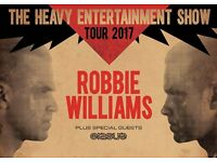 2 Robbie Williams seated tickets Wednesday 21st June, Cardiff principality Stadium, 130 face value