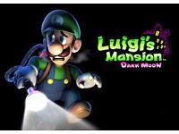 3ds games for sale Luigis Mansion, Mario & Luigi Paper Jam, Super Smash Bros £20 each