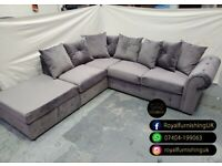 == ROYAL FURNISHING'S BRAND NEW ASHWIN PLUSH VELVET CORNER OR 3+2 SOFA SET ==