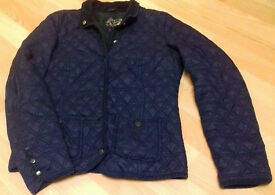 Size 8 lightweight blue quilted coat