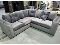 BRAND NEW LIVERPOOL PLUSH VALVET CORNER OR 3+2 SEATER SOFA SET AVAILABLE IN STOCK ORDER NOW