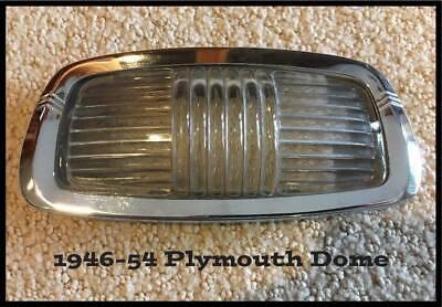 Vintage 1946-1954 Plymouth Dome Light Lens Bezel 1950 Suburban Deluxe 1948-1949 Dome Light Lens