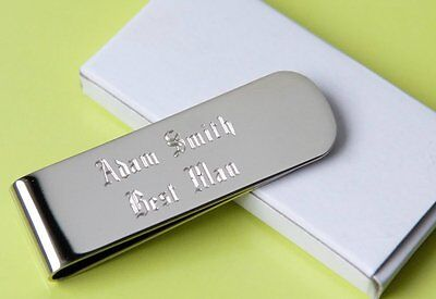 7 personalized money clips best man gift groomsman gift free custom engraving (Custom Money Clips)