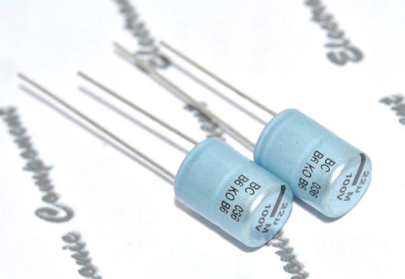 2pcs - Vishay BCcomponents 036 22uF (22µF) 100V 222203659229 Capacitor