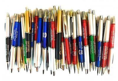 50 Wholesale Lot Misprint Ink Pens Ball Point Plastic Multi-color