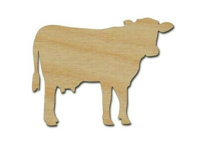 Dairy Cow Shape Unfinished Wood Farm Animal Cutouts Variety of Sizes Made In