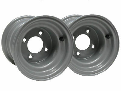 """Two - 8"""" inch wheel rim ride on lawnmower quad bike 7.00x8 4 stud 100mm spacing for sale  Shipping to Ireland"""
