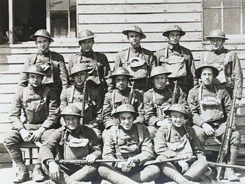 "ORIGINAL WW1 US ARMY 26th ""YANKEE DIVISION"" (FIGHTING IRISH) PHOTO POSTCARD RPPC"