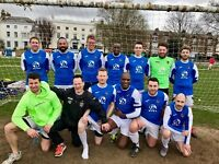 Experienced 11 aside striker required for men's football team (South/Central London)