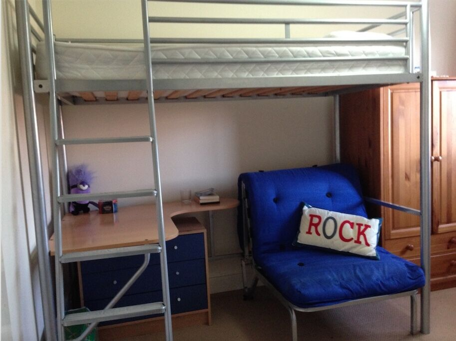 Jay-Be high sleeper loft bed with desk and sofa / futon ...