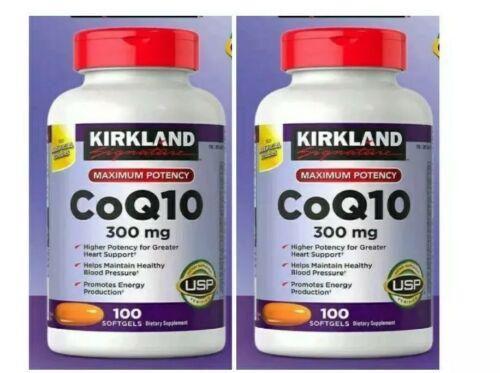 2 Kirkland Signature CoQ10 300 mg 2×100 Softgels