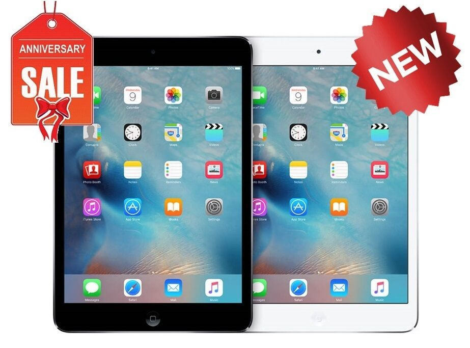 NEW Apple iPad mini 2 16GB 32GB 64GB Wi-Fi, 7.9in Retina - Space Gray Silver