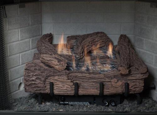 "Everwarm 24"" Palmetto Oak Gas Log Set - Vent Free - Remote Ready NG or LP"