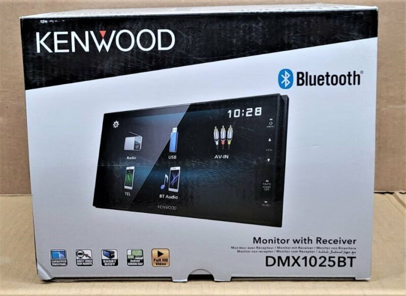 """Kenwood DMX1025BT 6.8"""" Double Din Media Receiver with Apple/Android/USB NEW"""