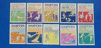 Albania Stamps, Scott 754-763 Complete Set MNH