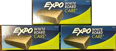 3 Packages Expo White Board Care Eraser 1 Count Per Package New