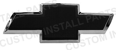 Front Billet Bowtie Grille Emblem CBS Black fits 2003 -2007 Chevy Silverado 1500