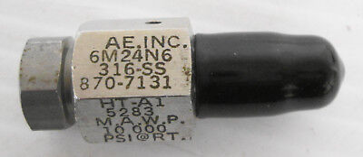 Autoclave 6m24n6 18 Npt Male 14 Female Adapter 10000psi