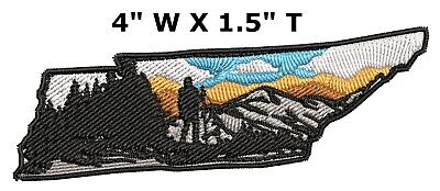 Explore Tennessee Embroidered Patch Iron / Sew-On Souvenir Travel Nature Parks