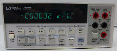 Agilenthp 34401a 6.5 Digit Digital Multimeter 2 Tested And Working All In Cal