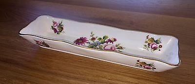 COALPORT China England LUDLOW Floral Rectangular Cracker Olive Tray Pin Pen Dish