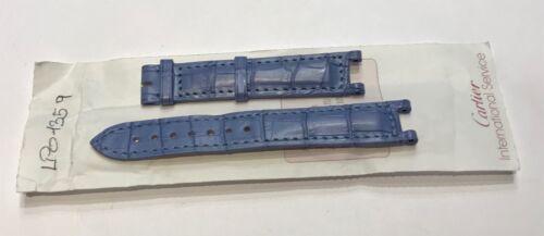 Strap / bracelet de montre cartier pasha femme bleu @ 15,4 mm @ cartier strap
