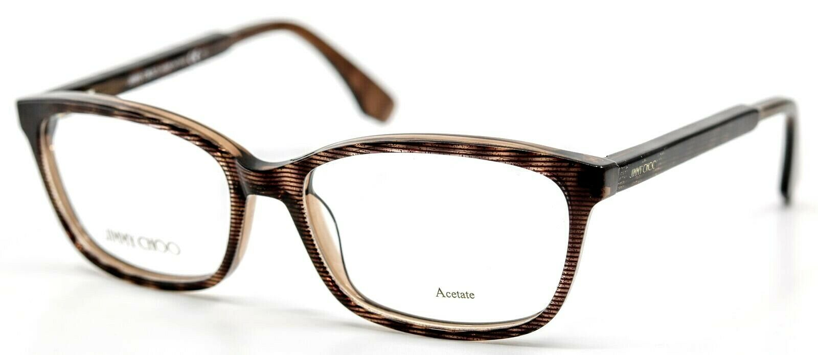 Jimmy Choo Ladies Purple Rectangular Eyeglass Frames