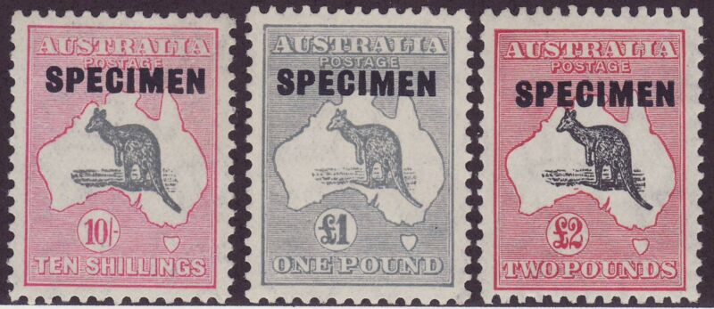 A very fine Specimen set (CofA watermark).