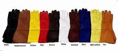 Swordsman Medieval Leather Gauntlet Gloves Larp SCA Cosplay Renaissance Armor](Gauntlet Gloves)