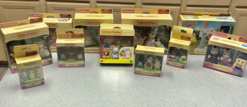 Large Lot Calico Critters New In Box