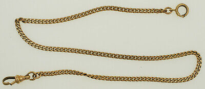 """Vintage 10K Sold Yellow Gold Pocket Watch Chain 13"""" 9.2 grams"""