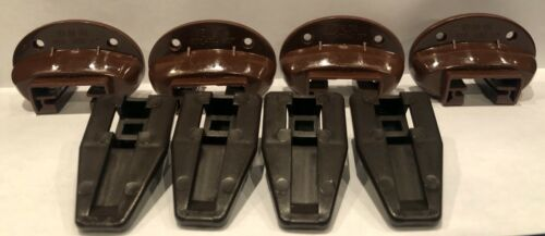 Kenlin Rite Trak II Plastic Glides (4 Case Runners & 4 Sockets) Fast Shipping!!
