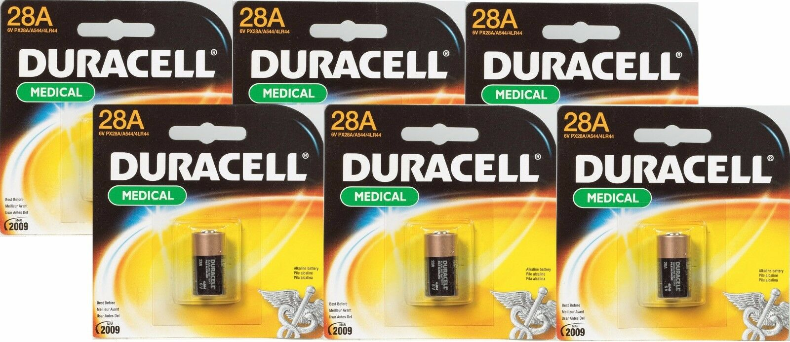 6 Duracell 28a 6v Alkaline Battery Medical Electronics Ph...