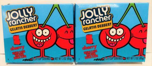 Jolly Rancher Cherry Gelatin Dessert Mix 3 oz ( 2 Boxes ) Jello