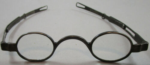 Antique Silver Eyeglasses / Spectacles with Adjustable Arms