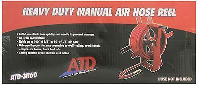 Atd Tools Atd-31160 Heavy-duty Manual Air Hose Reel
