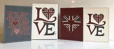 Jan Constantine Union Jack Love Heart Notecards 15 BNIB