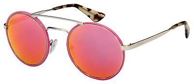 Prada Sunglasses PR 51SS VHU5L2 54 Pink/Silver Frame | Pink Mirror Lens
