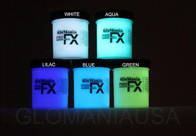 Acryl White Star (Green Blue Aqua Lilac White Glow in the Dark Paint 4oz pots Cosmic Star Ceiling )
