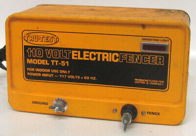 Vintage Tru-test Tt-51 Electric Fence Fencer 117v 60hz Indoor Use Model