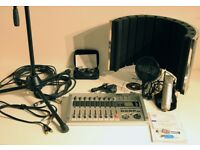 Unused Music Studio recording equipment including Zoom R24 Recorder, plus everything else required
