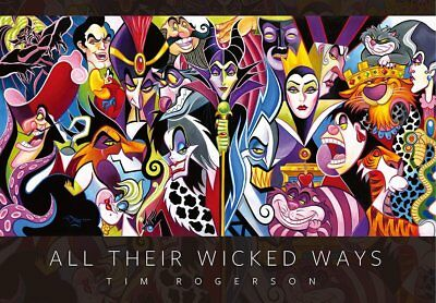 """Jigsaw Puzzle Disney villains """"ALL THEIR WICKED WAY"""" 1000p Tenyo D1000-492"""