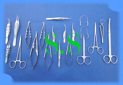 20 Pc Eye Micro Minor Surgery Opthalmic Instrument Set Ey-036