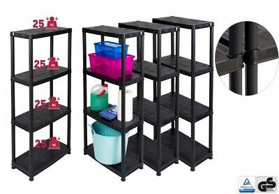 4 Regal Kunststoff-regal (4 Stück Haushaltsregal Kunststoffregal Werkstattregal Kellerregal Büroregal Top)
