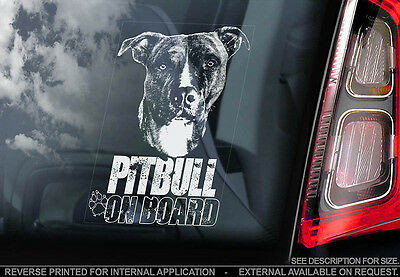 Pitbull - Car Window Sticker - Dog Sign -V04