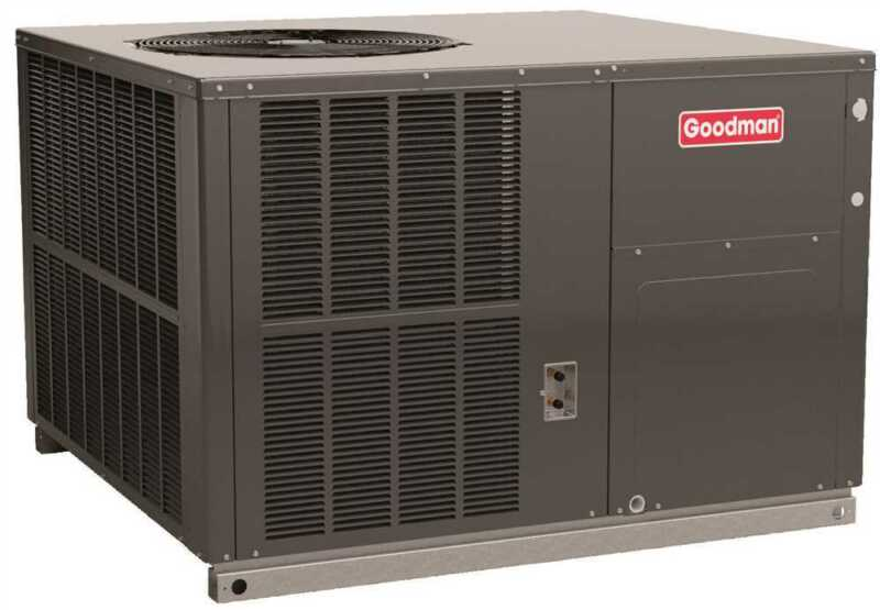 Goodman 14 Seer 2 Ton Self Contained Packaged Ac - Dedicated Horizontal