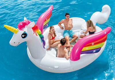 Unicorno mega isola gigante galleggiante Intex 57266EU per piscina e mare