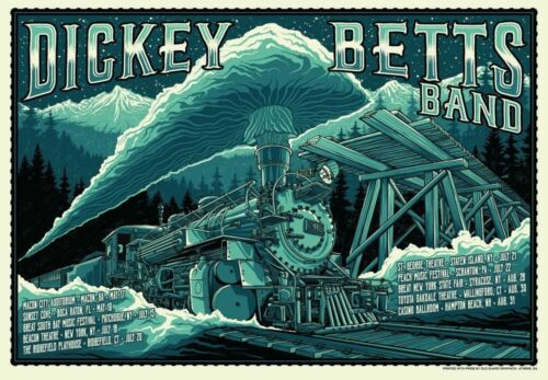 Official Dickey 2018 Tour Poster Devon Allman Brothers Signed by Artist #18